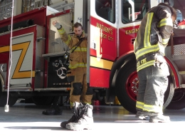 A typical firefighter's shift lasts 24 hours. The firefighters all eat, sleep and live together at the St. Augustine Fire Department (SAFD).