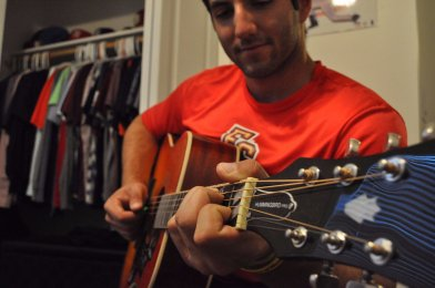 "Another favorite past time of Martello's is playing the guitar in the short period of time he has for other activities. ""I first became interested in the guitar when I was in middle school,"" said Martello. ""I loved classic rock music and wanted to be able to play all those songs."" Of course, Martello's love for the instrument doesn't trump the time he gets to play America's favorite pastime."
