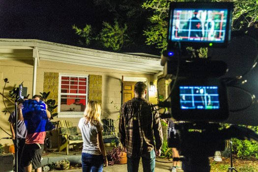 "The filming of ""In Search for Noelle"" has stretched over a period of three months, sometimes with the crew filming into the late hours of the night."