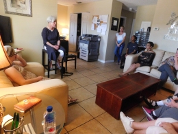 In the afternoon, Mayor Shaver visited Alpha Omega Miracle Home, a shelter for single moms.
